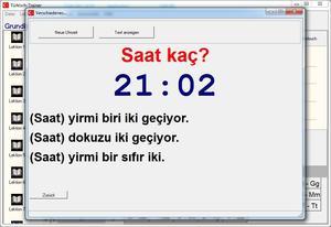 Türkische Uhrzeit lernen