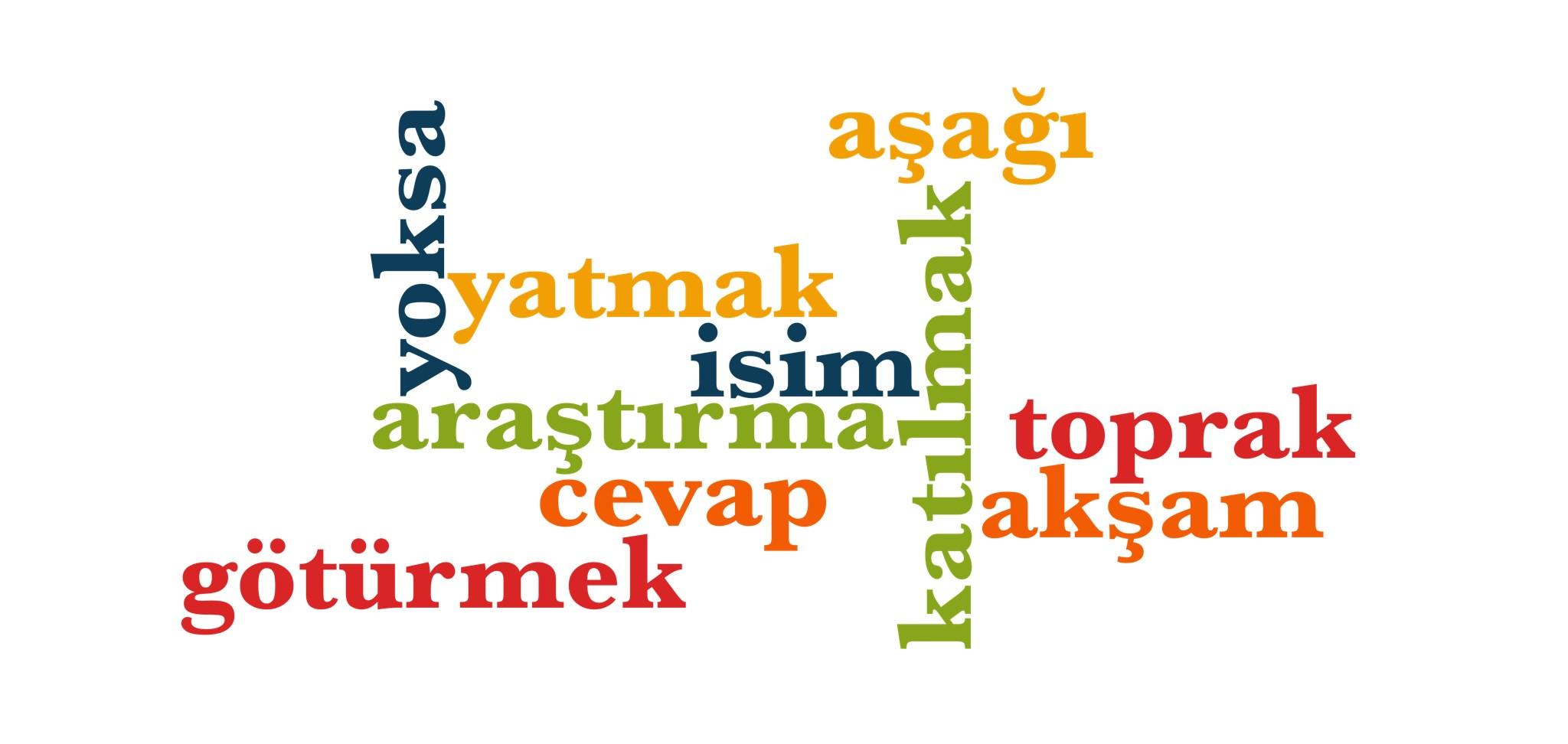 Wörter 401 bis 410 der 1000 häufigsten Wörter der türkischen Sprache