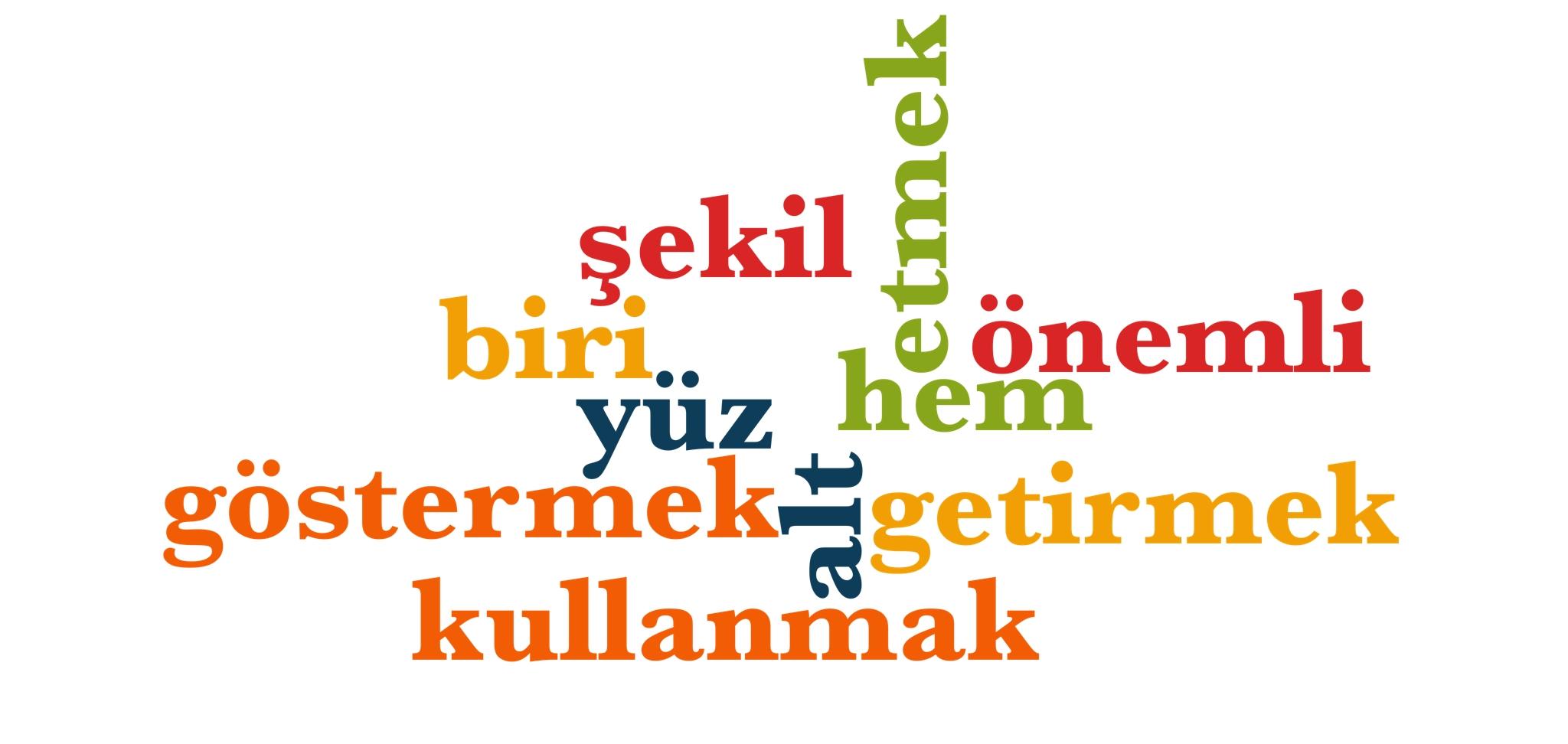 Wörter 101 bis 110 der 1000 häufigsten Wörter der türkischen Sprache