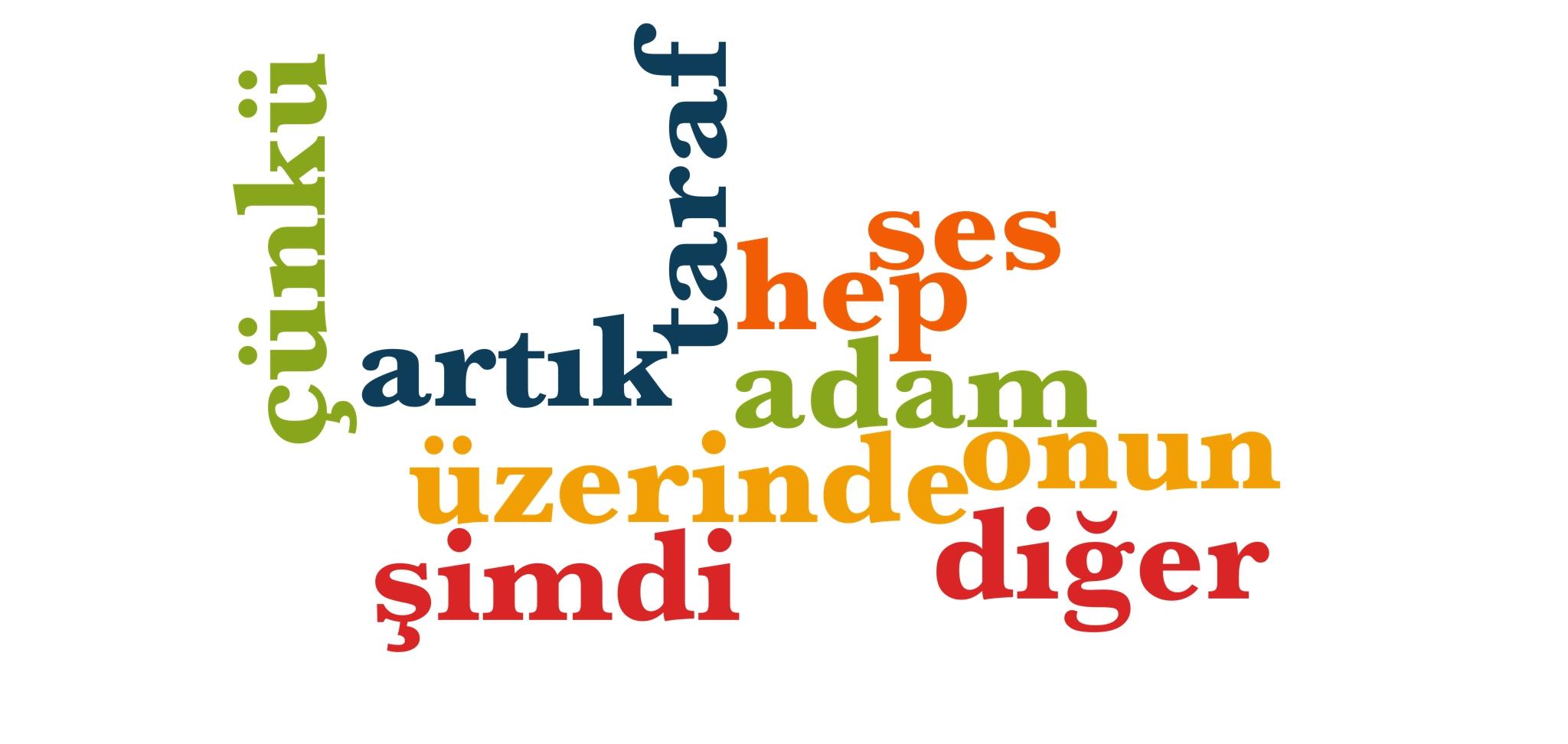 Wörter 111 bis 120 der 1000 häufigsten Wörter der türkischen Sprache