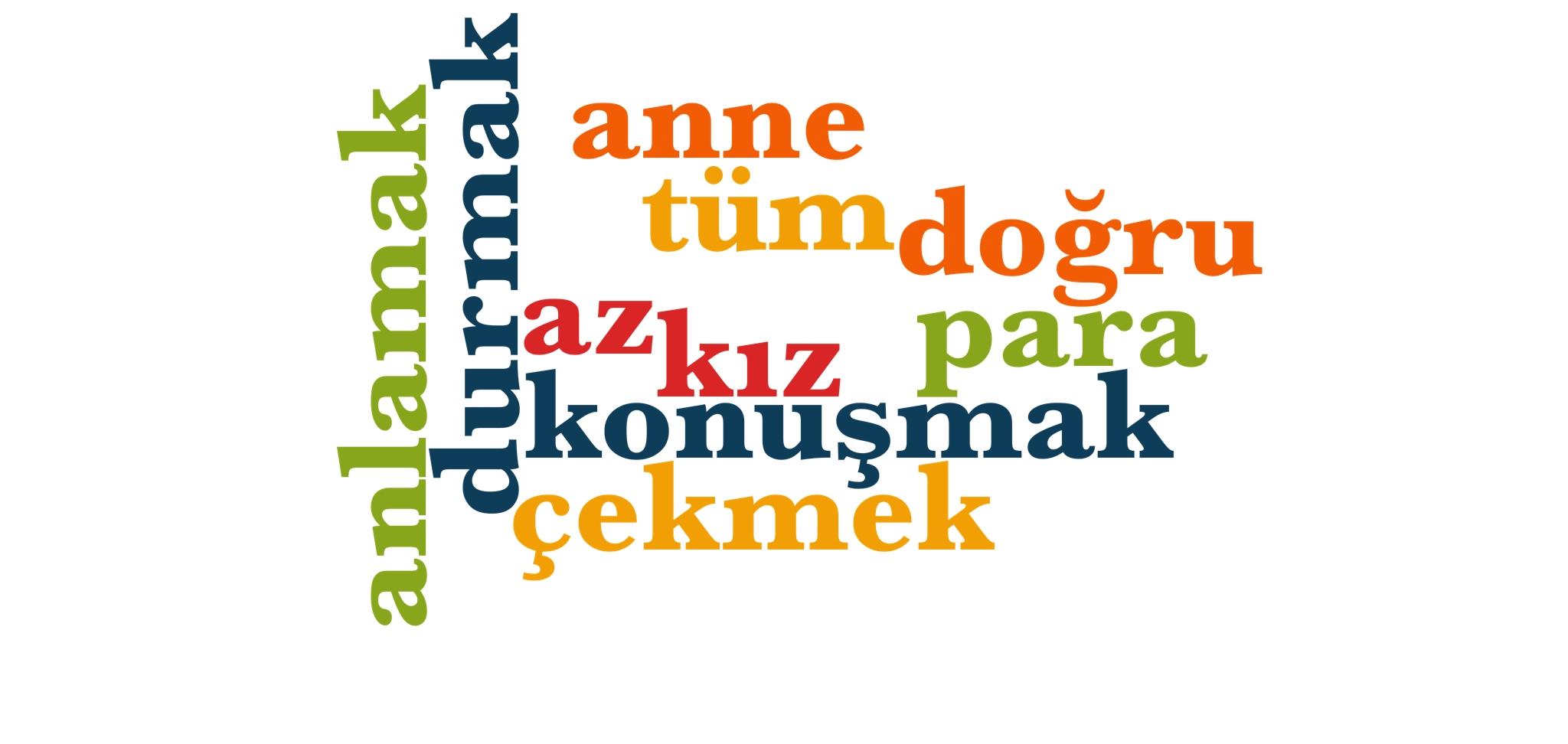 Wörter 121 bis 130 der 1000 häufigsten Wörter der türkischen Sprache