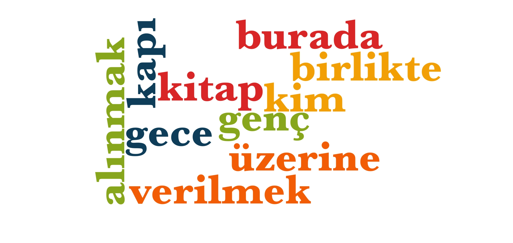Wörter 181 bis 190 der 1000 häufigsten Wörter der türkischen Sprache