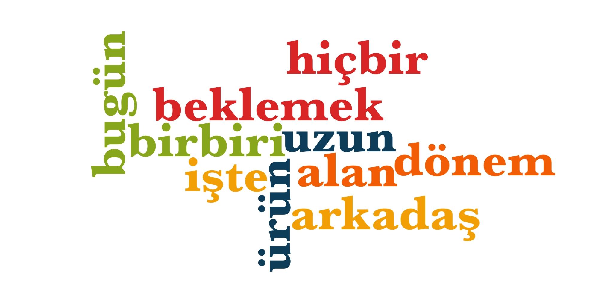 Wörter 191 bis 200 der 1000 häufigsten Wörter der türkischen Sprache