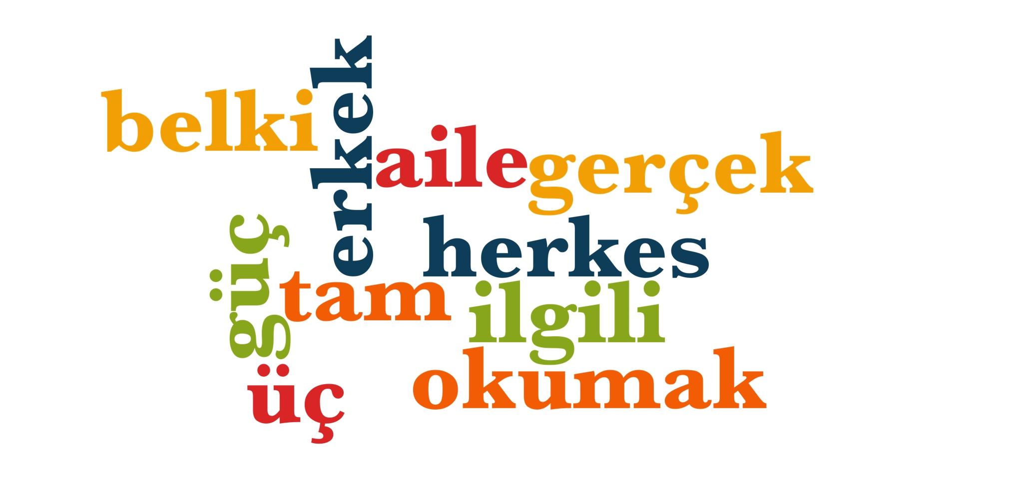 Wörter 201 bis 210 der 1000 häufigsten Wörter der türkischen Sprache