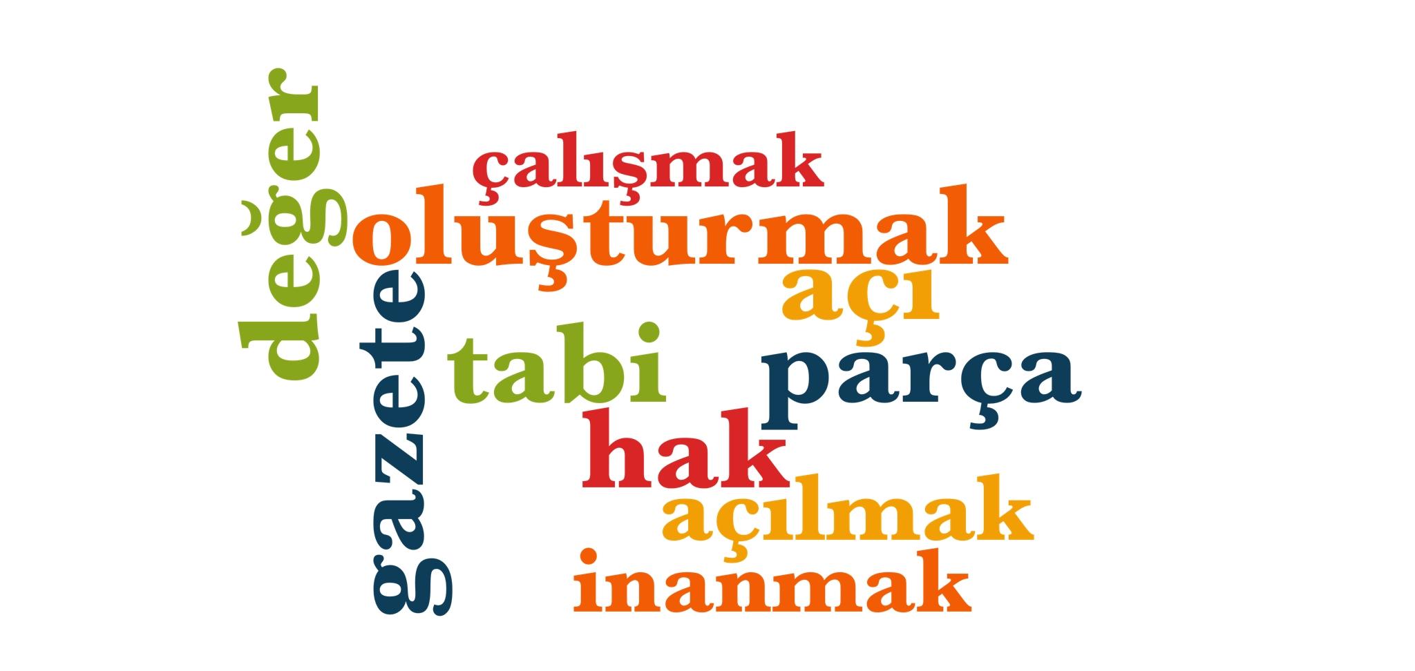 Wörter 271 bis 280 der 1000 häufigsten Wörter der türkischen Sprache
