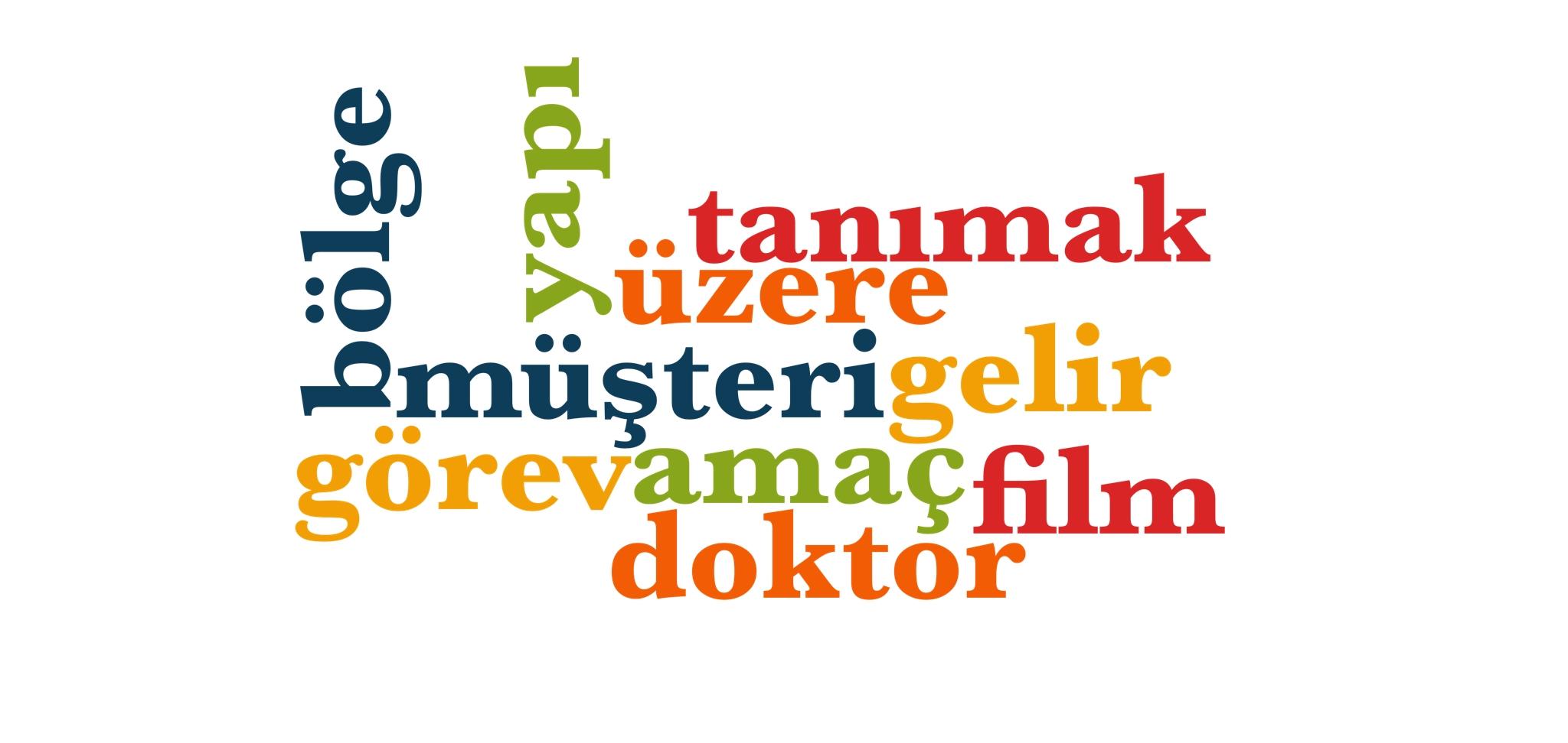 Wörter 281 bis 290 der 1000 häufigsten Wörter der türkischen Sprache