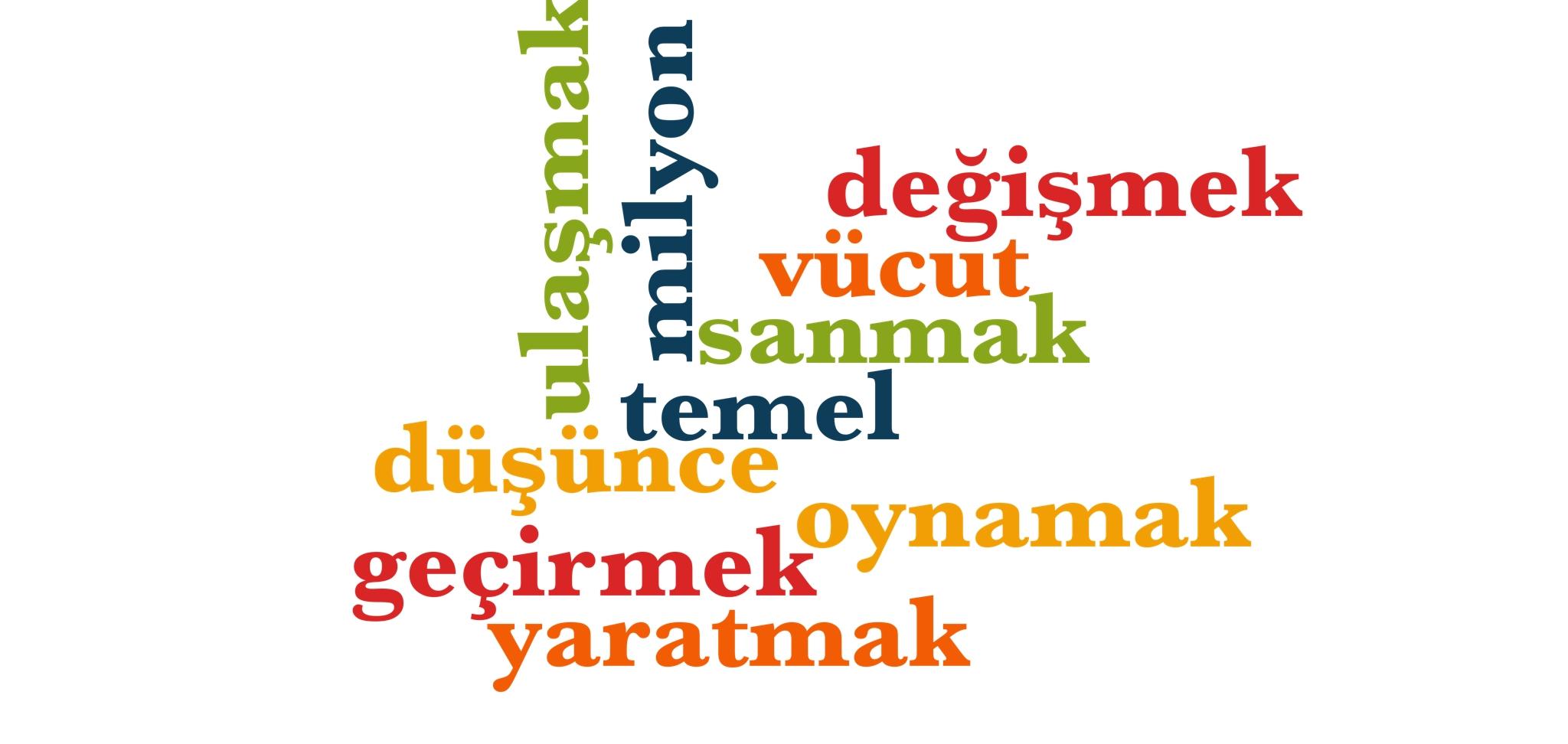 Wörter 301 bis 310 der 1000 häufigsten Wörter der türkischen Sprache