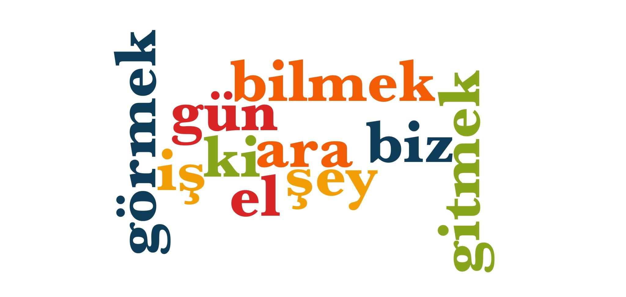 Wörter 31 bis 40 der 1000 häufigsten Wörter der türkischen Sprache