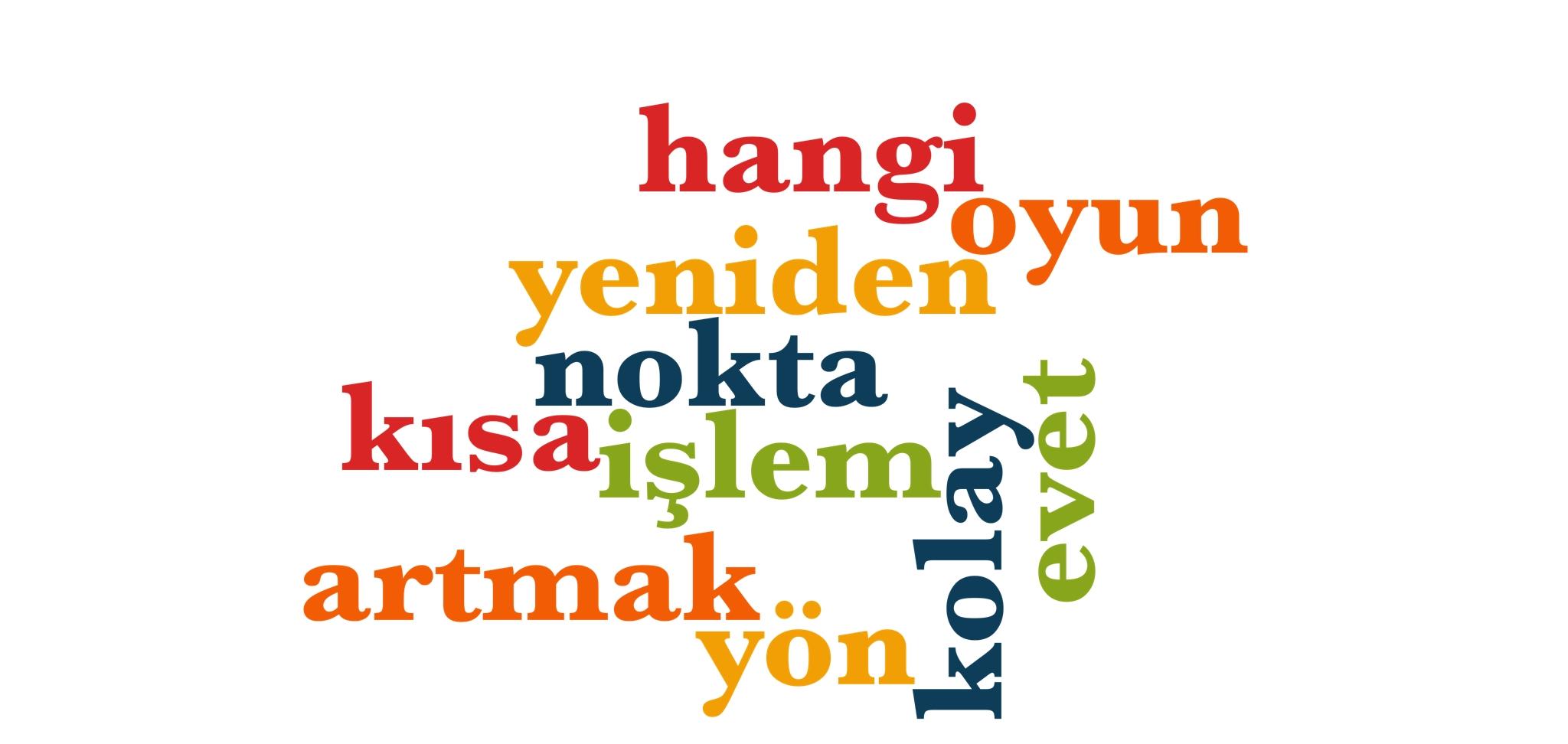 Wörter 321 bis 330 der 1000 häufigsten Wörter der türkischen Sprache