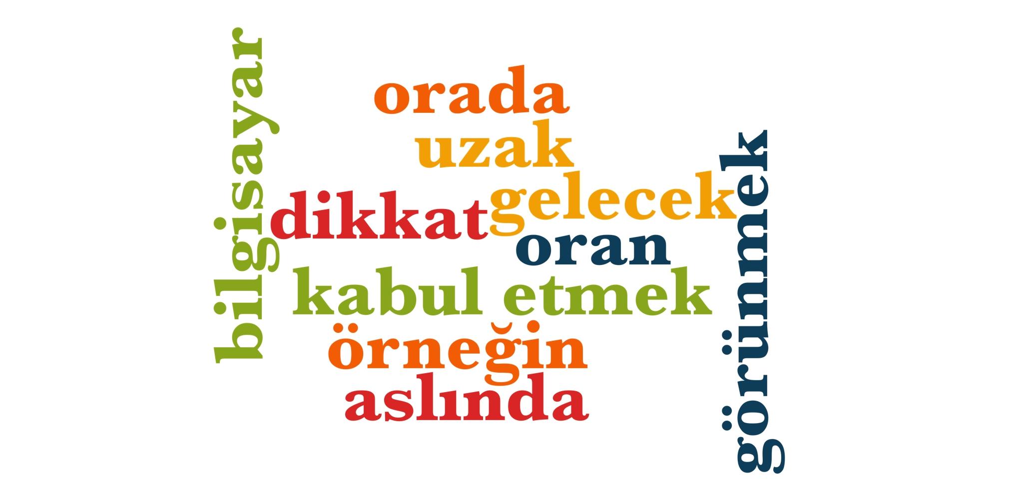 Wörter 331 bis 340 der 1000 häufigsten Wörter der türkischen Sprache