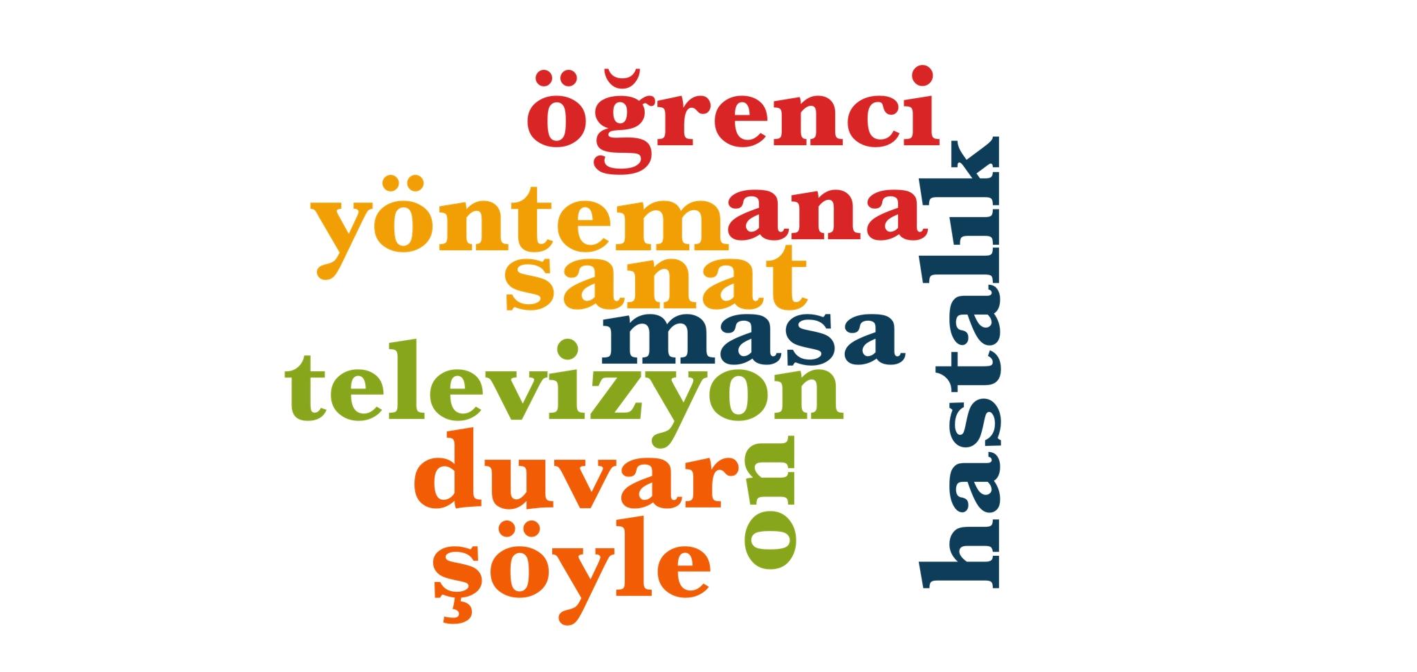 Wörter 361 bis 370 der 1000 häufigsten Wörter der türkischen Sprache
