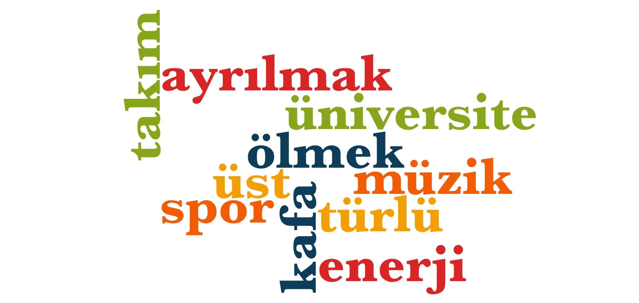 Wörter 371 bis 380 der 1000 häufigsten Wörter der türkischen Sprache