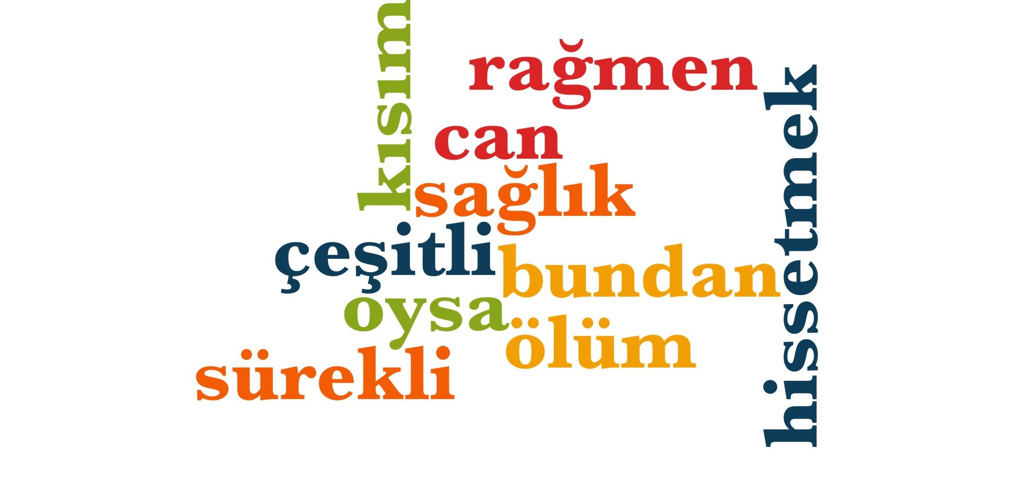 Wörter 381 bis 390 der 1000 häufigsten Wörter der türkischen Sprache