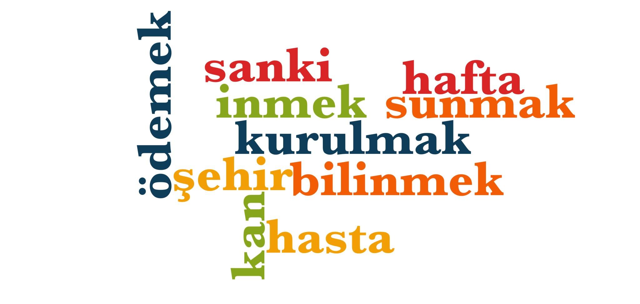 Wörter 411 bis 420 der 1000 häufigsten Wörter der türkischen Sprache