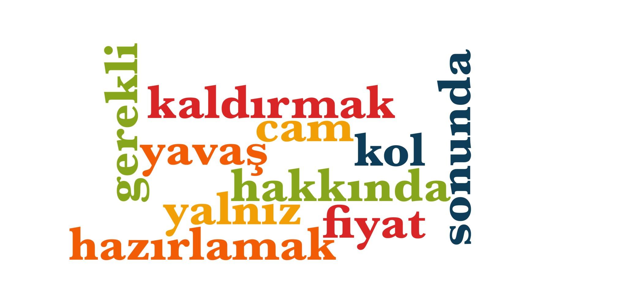 Wörter 431 bis 440 der 1000 häufigsten Wörter der türkischen Sprache