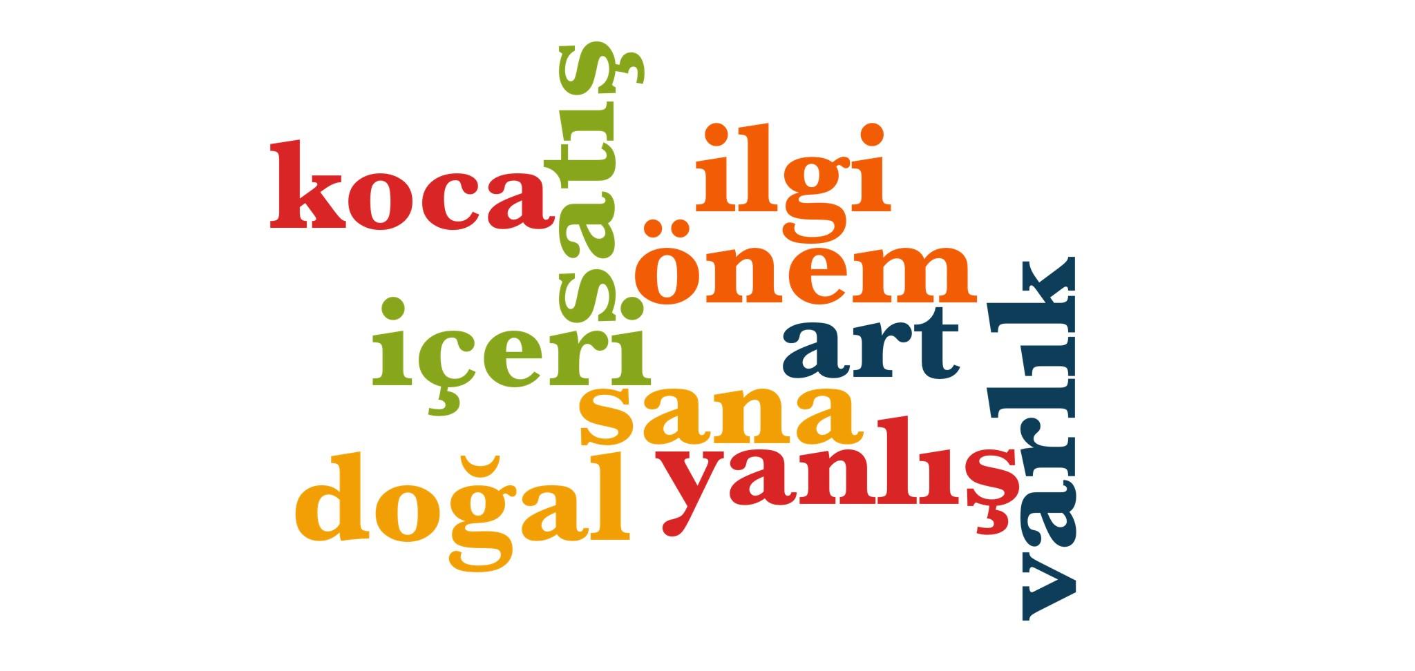 Wörter 441 bis 450 der 1000 häufigsten Wörter der türkischen Sprache