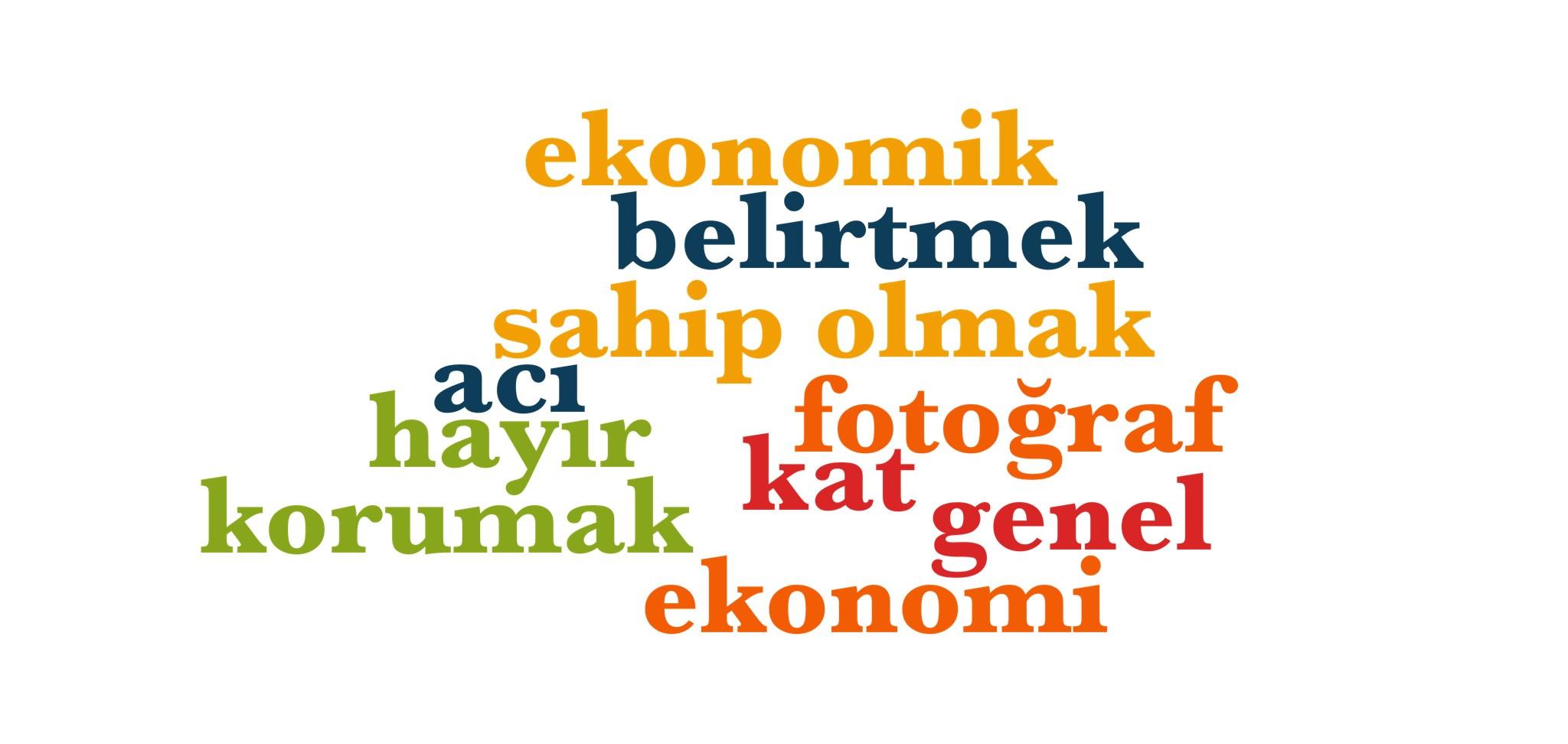 Wörter 451 bis 460 der 1000 häufigsten Wörter der türkischen Sprache