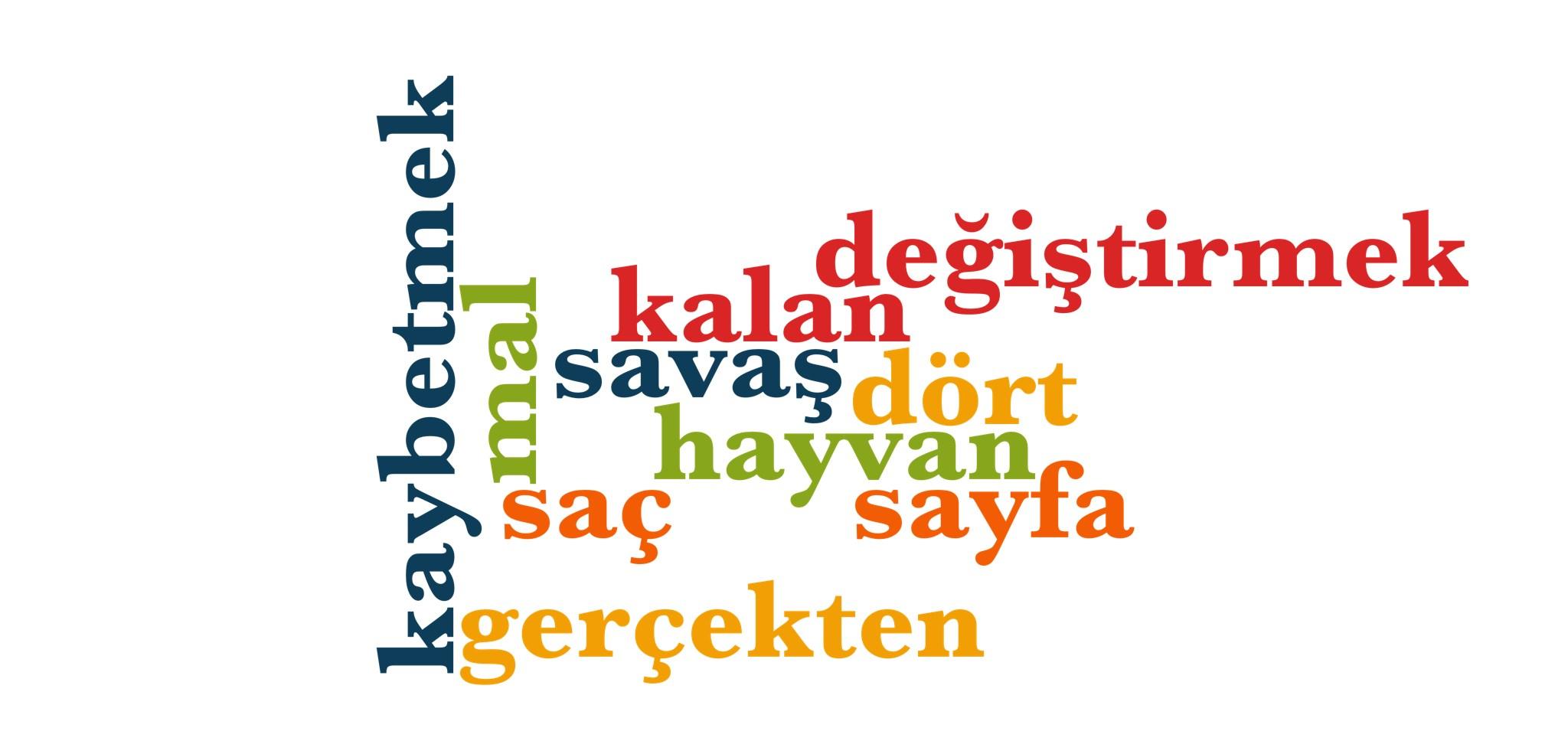 Wörter 461 bis 470 der 1000 häufigsten Wörter der türkischen Sprache