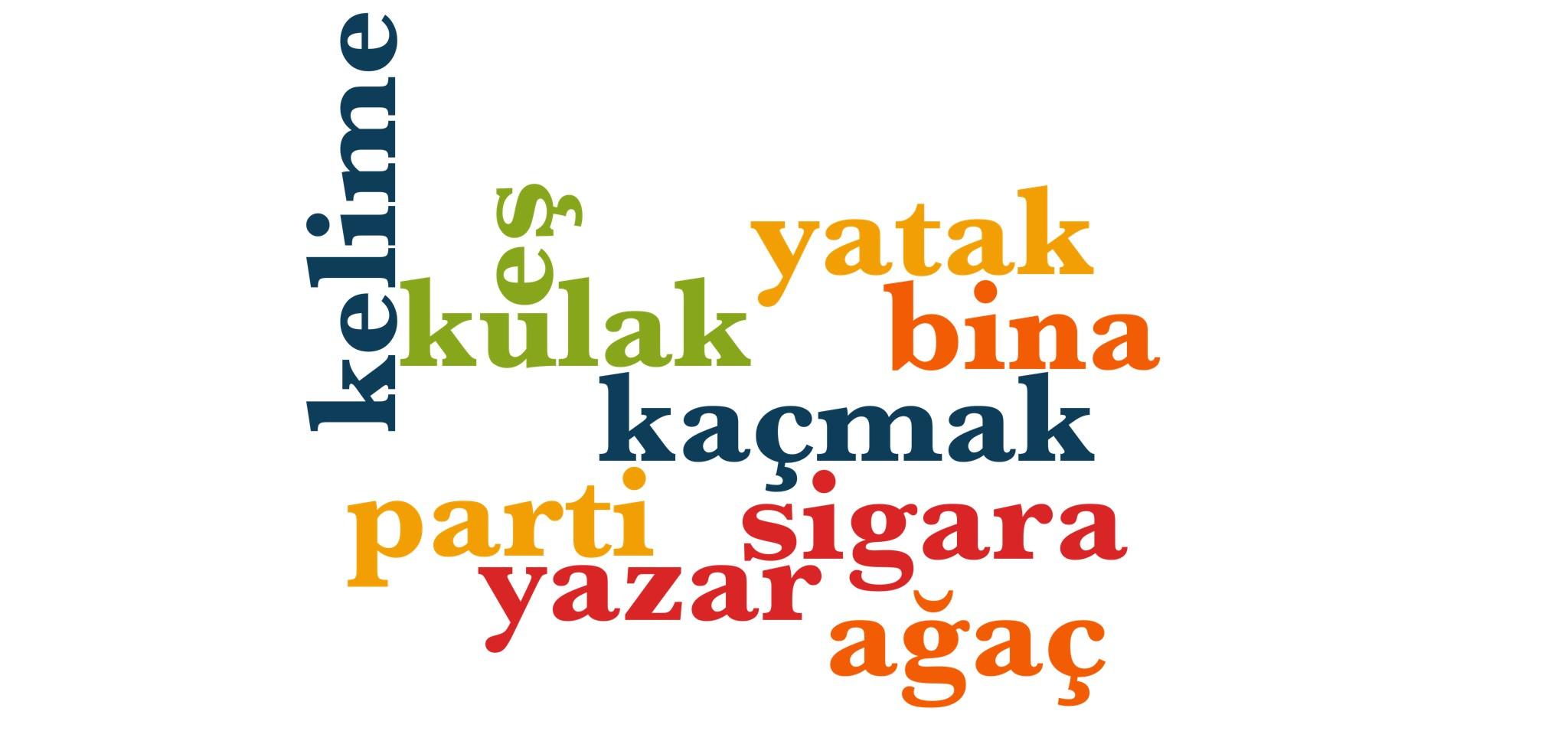 Wörter 491 bis 500 der 1000 häufigsten Wörter der türkischen Sprache