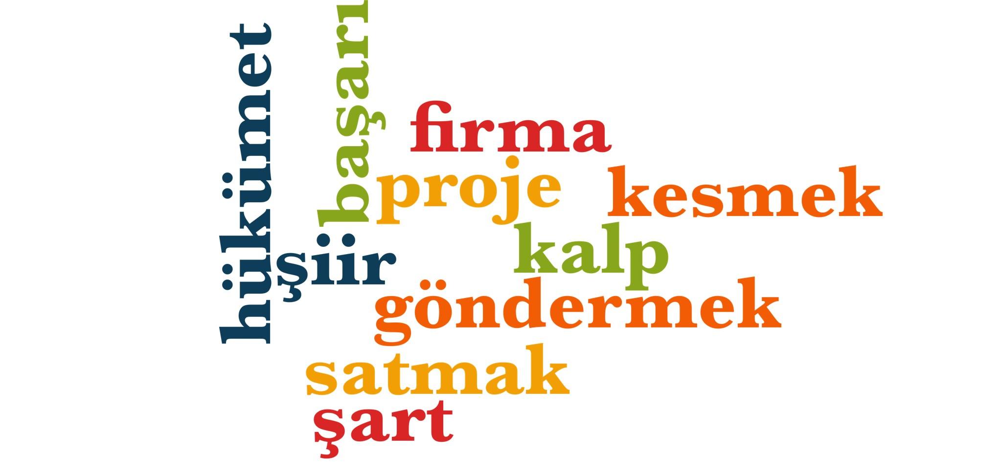 Wörter 511 bis 520 der 1000 häufigsten Wörter der türkischen Sprache