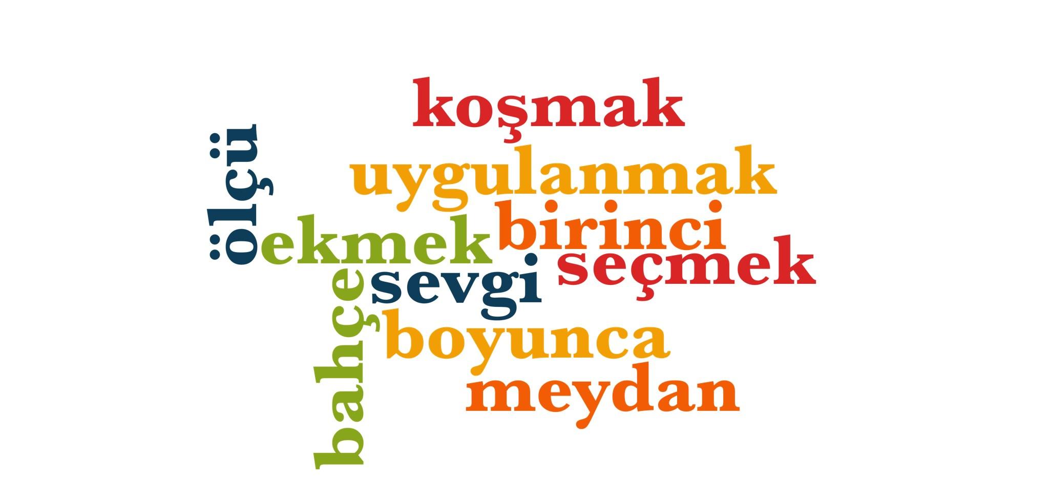 Wörter 531 bis 540 der 1000 häufigsten Wörter der türkischen Sprache