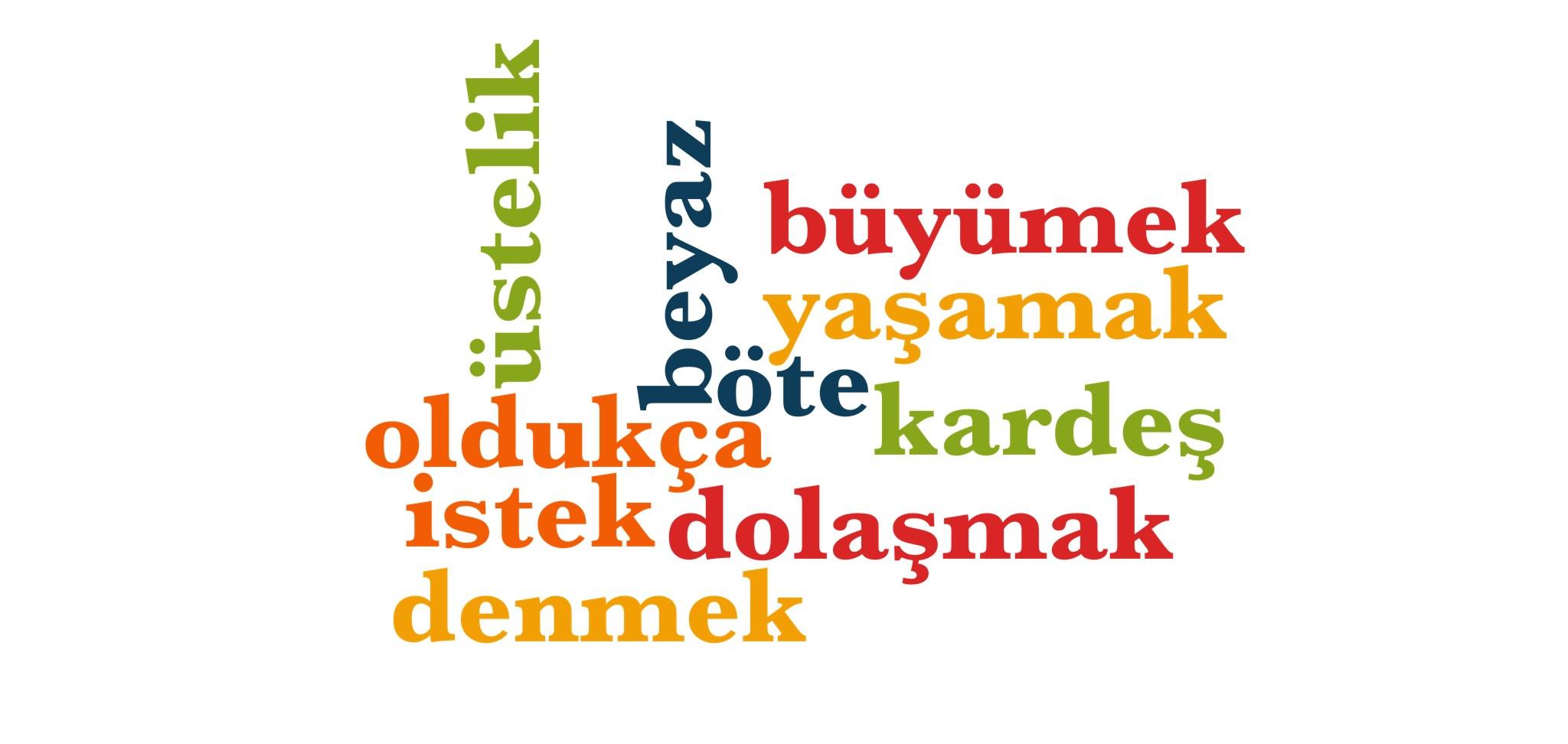 Wörter 551 bis 560 der 1000 häufigsten Wörter der türkischen Sprache