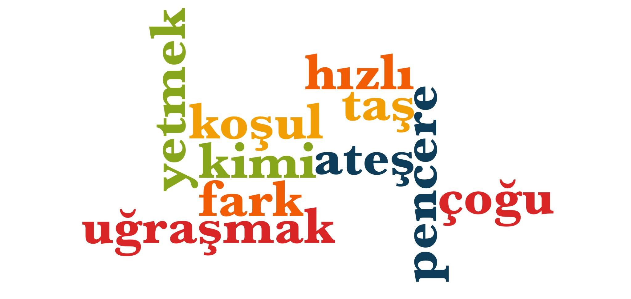 Wörter 571 bis 580 der 1000 häufigsten Wörter der türkischen Sprache