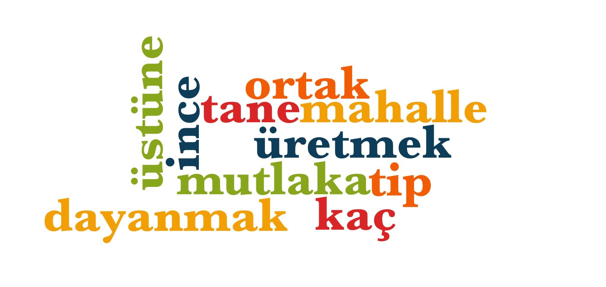 Wörter 581 bis 590 der 1000 häufigsten Wörter der türkischen Sprache