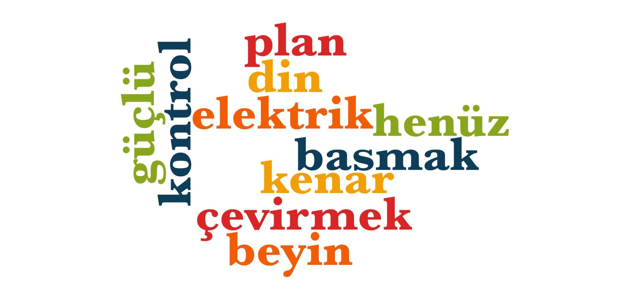 Wörter 611 bis 620 der 1000 häufigsten Wörter der türkischen Sprache