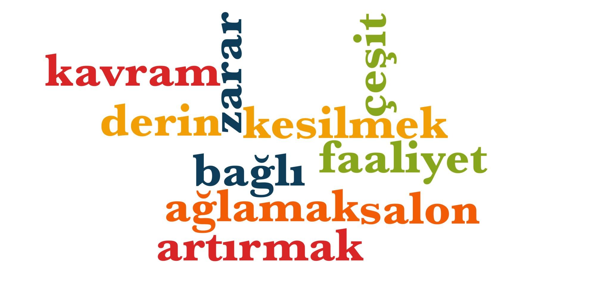 Wörter 651 bis 660 der 1000 häufigsten Wörter der türkischen Sprache