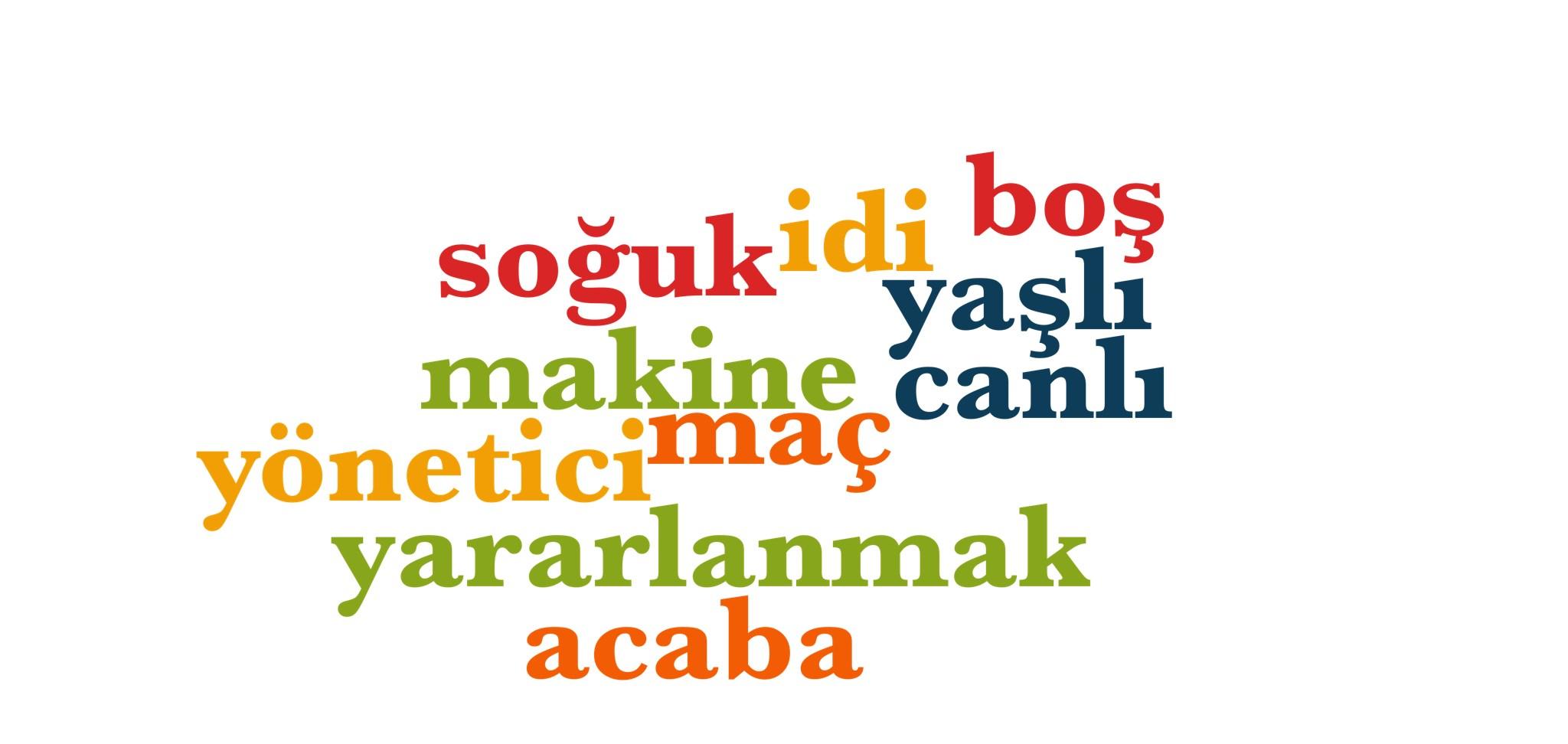 Wörter 671 bis 680 der 1000 häufigsten Wörter der türkischen Sprache