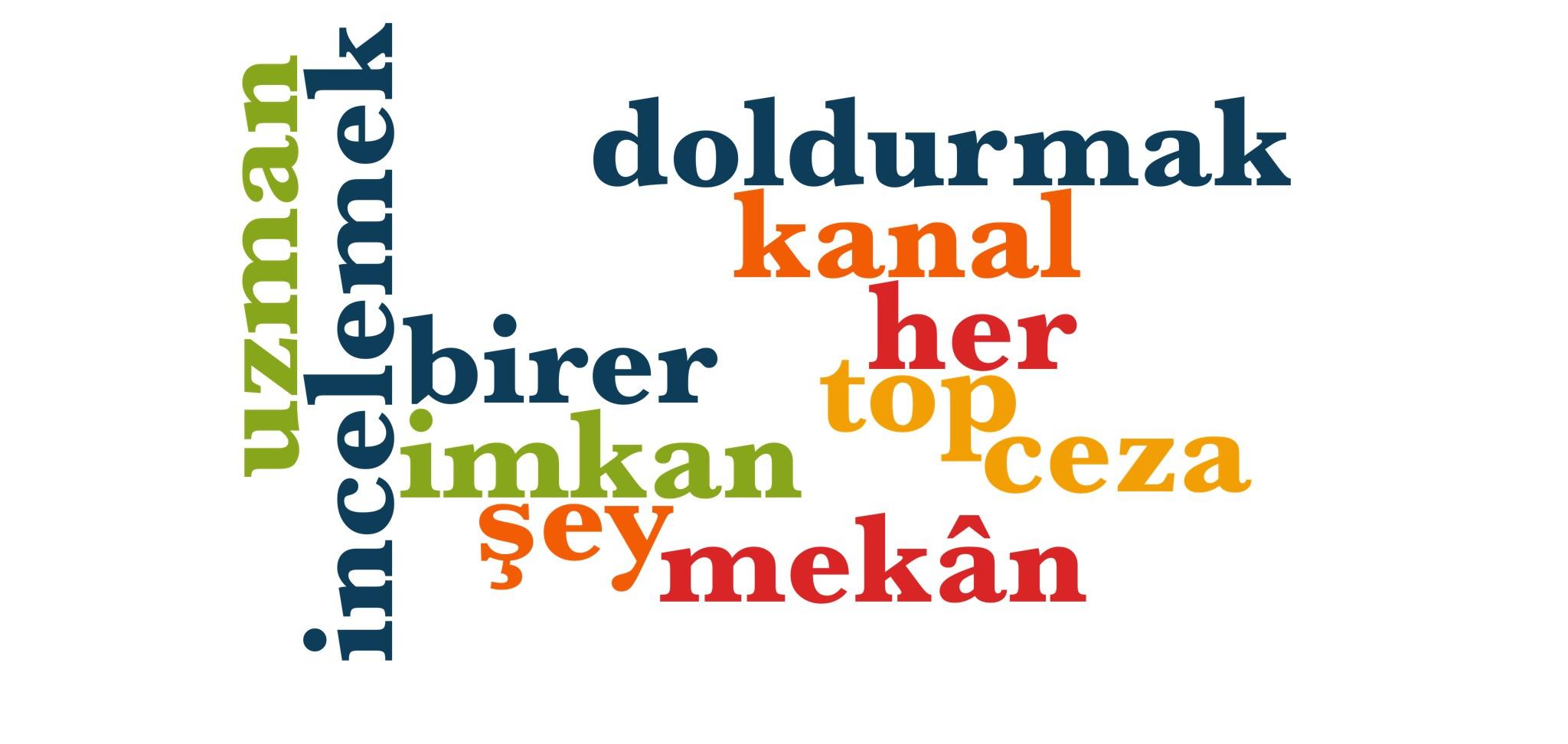 Wörter 691 bis 700 der 1000 häufigsten Wörter der türkischen Sprache