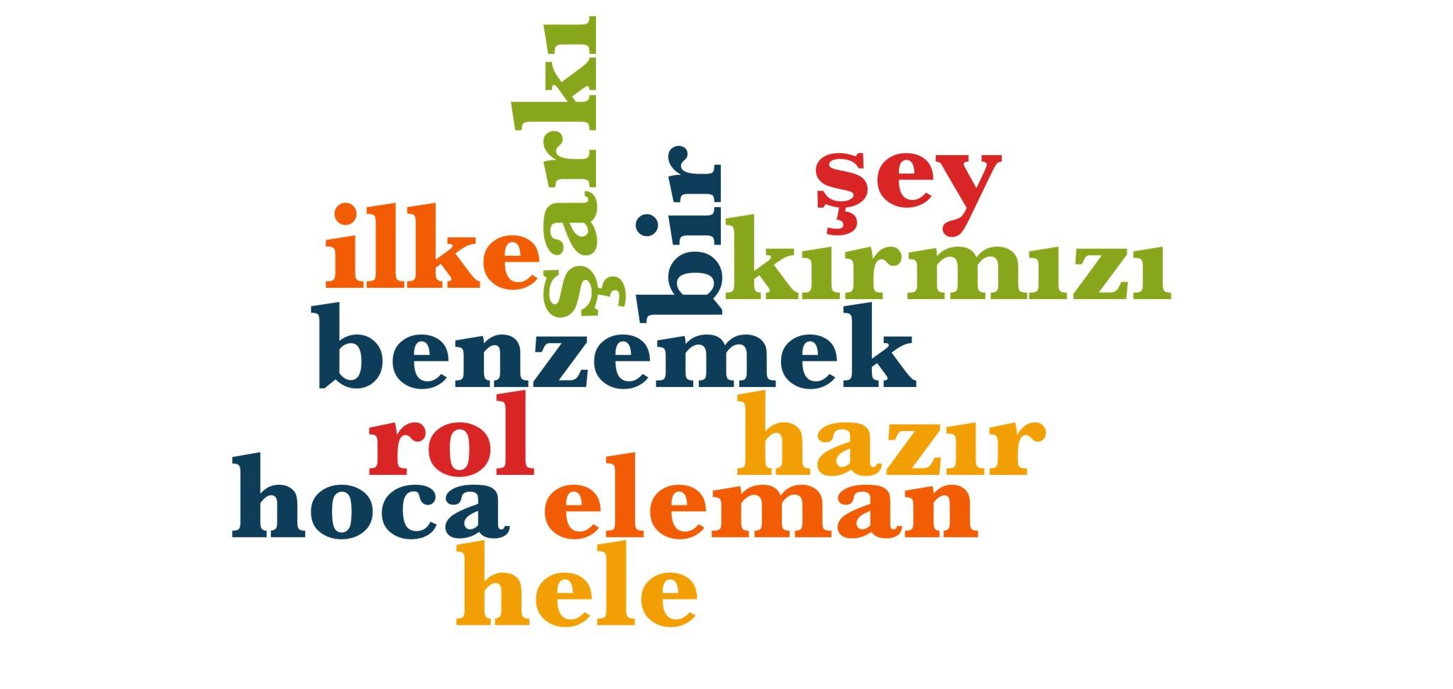 Wörter 711 bis 720 der 1000 häufigsten Wörter der türkischen Sprache