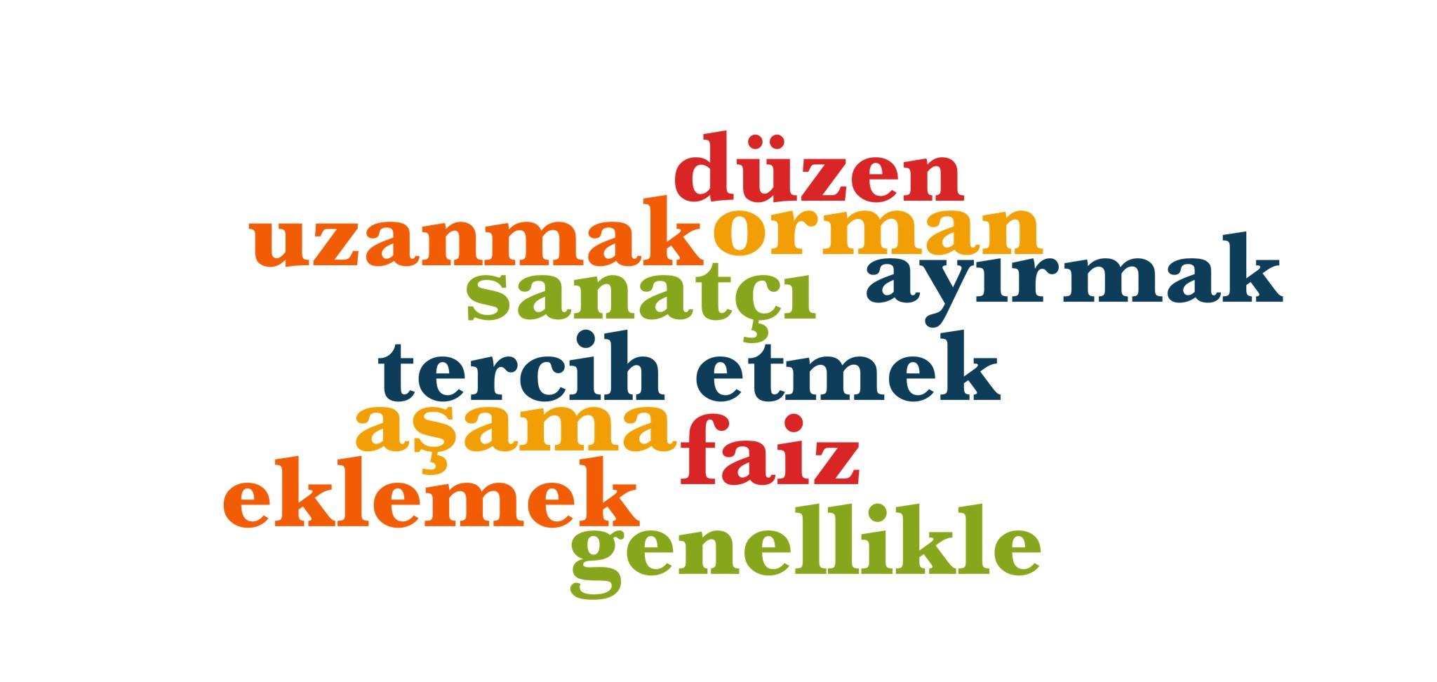 Wörter 731 bis 740 der 1000 häufigsten Wörter der türkischen Sprache