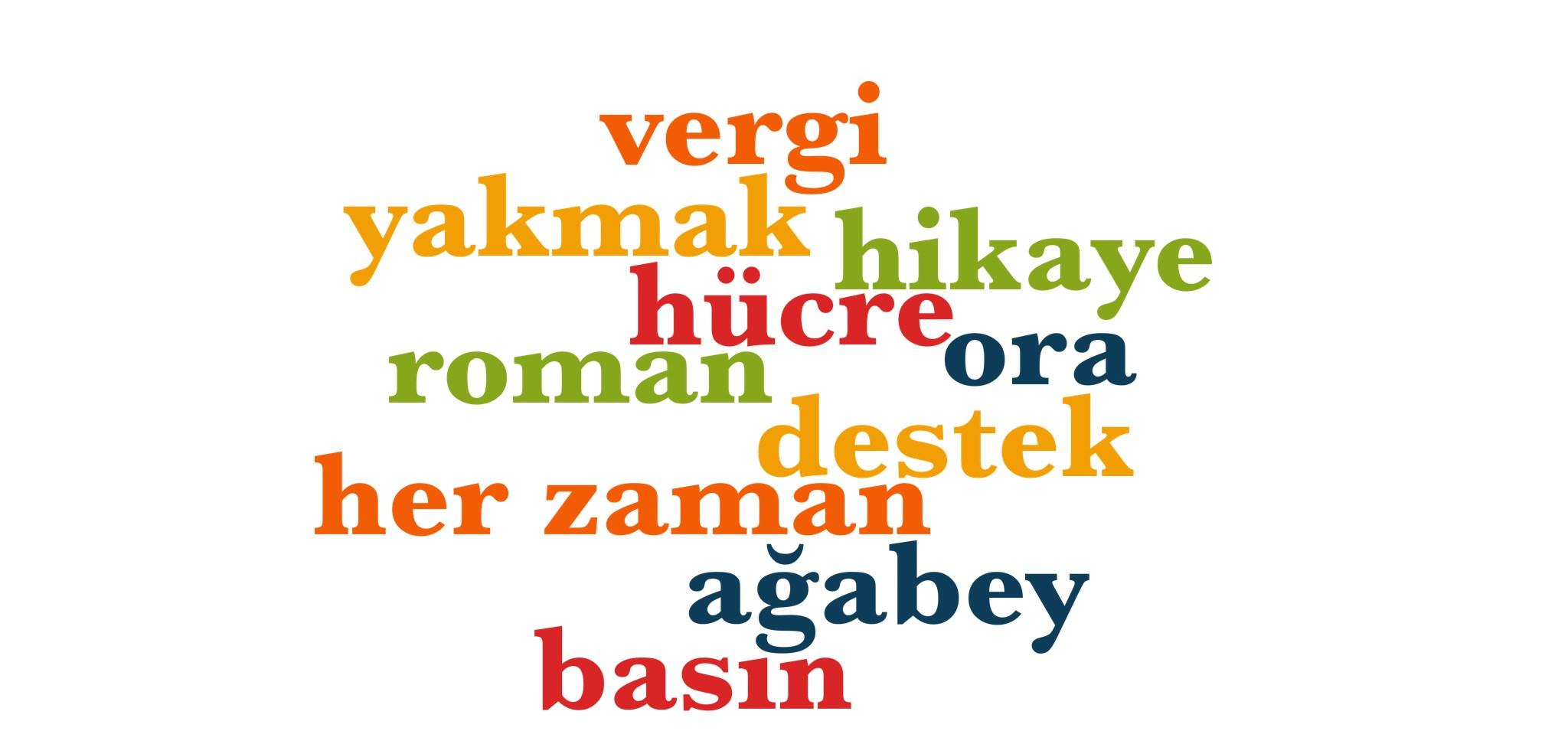 Wörter 741 bis 750 der 1000 häufigsten Wörter der türkischen Sprache