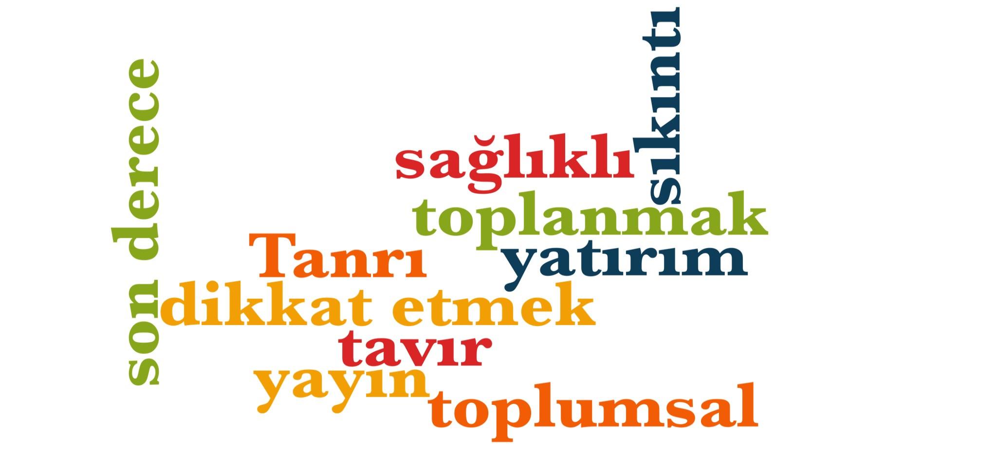 Wörter 821 bis 830 der 1000 häufigsten Wörter der türkischen Sprache
