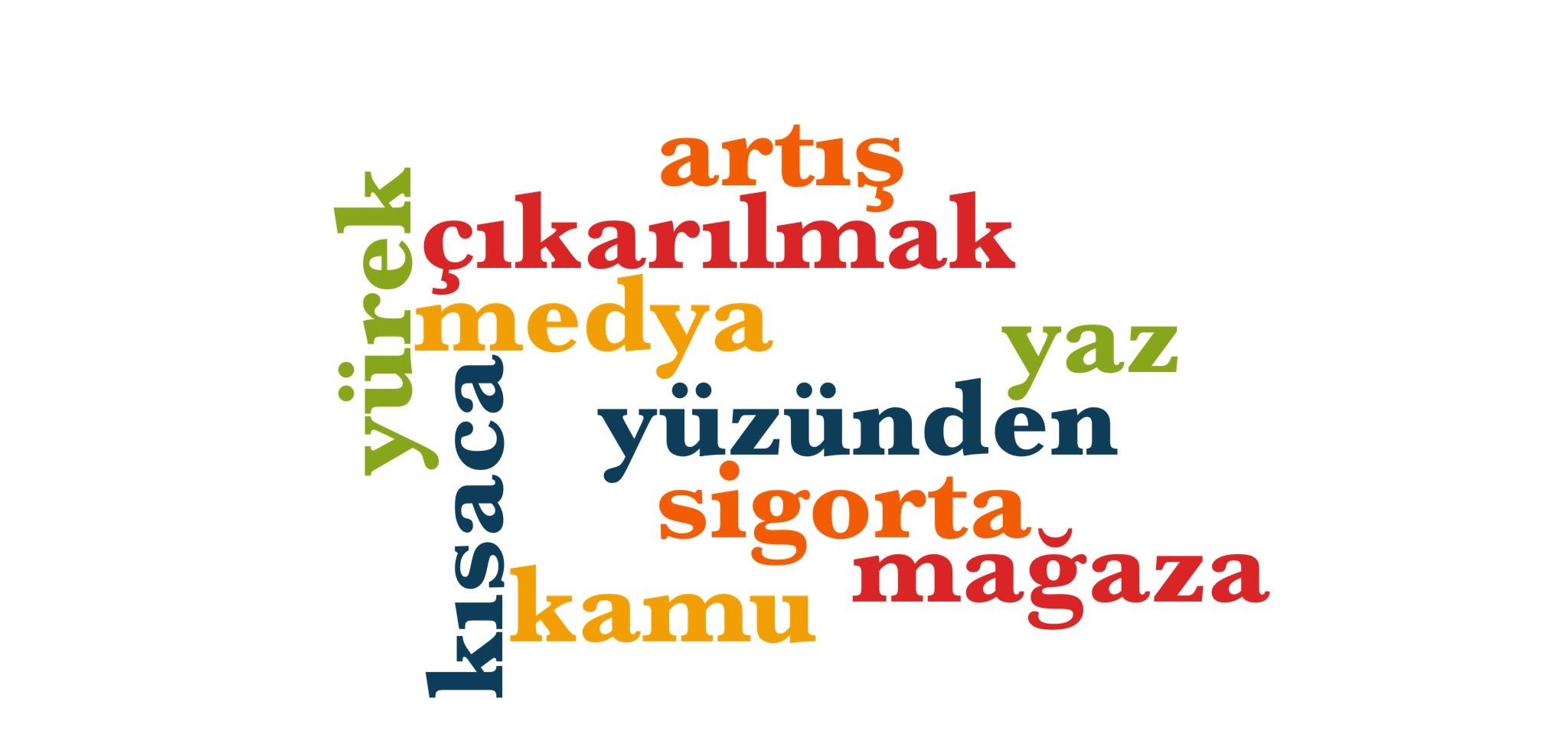 Wörter 851 bis 860 der 1000 häufigsten Wörter der türkischen Sprache