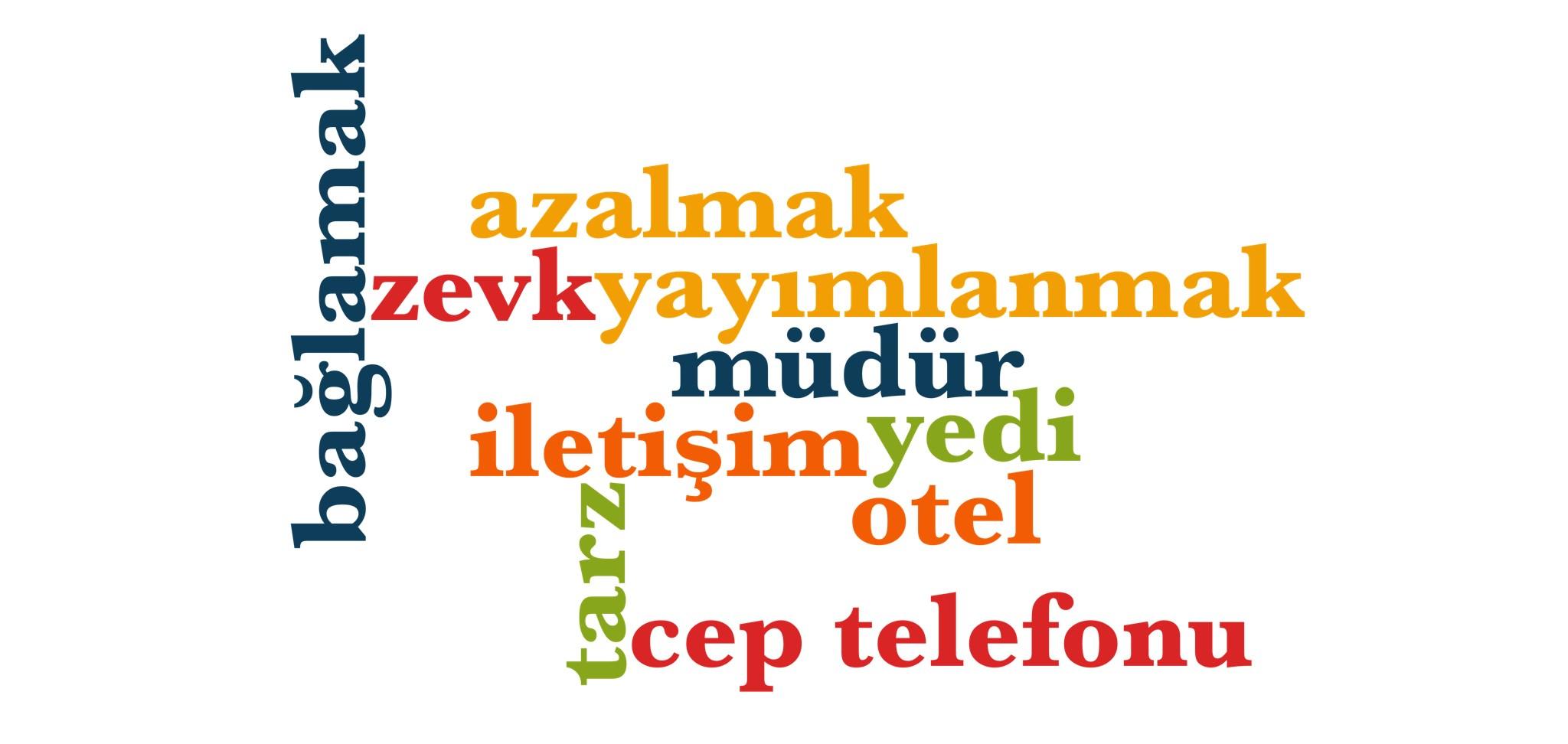 Wörter 891 bis 900 der 1000 häufigsten Wörter der türkischen Sprache