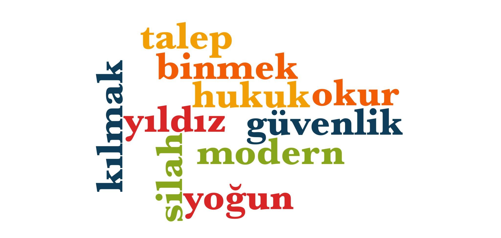 Wörter 901 bis 910 der 1000 häufigsten Wörter der türkischen Sprache