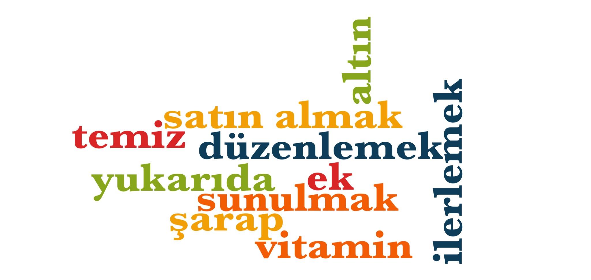 Wörter 981 bis 990 der 1000 häufigsten Wörter der türkischen Sprache